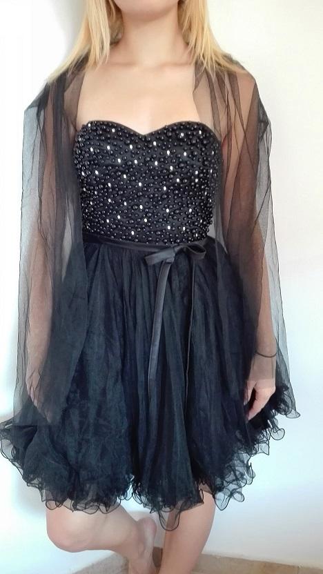 77c7e256d60 Plesové šaty - koktejlky korzetové černé