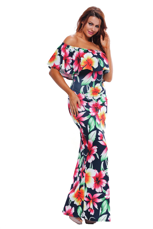 4db3612d8 Dámské dlouhé květované šaty BRAZIL | Katyshop