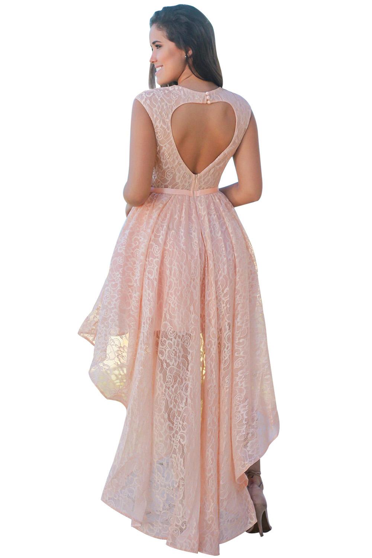 02 Společenské šaty krajkové meruňkové  278d8d563b