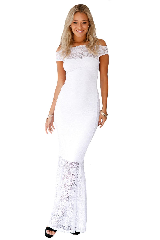 85530f8a6064 Společenské šaty dlouhé krajkové bílé