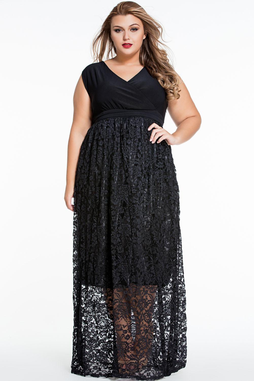 02 Dámské společenské šaty pro plnoštíhlé krajkové sexy  e0b295ac91
