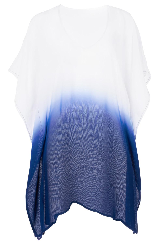 2b4829515 Plážová tunika na plavky OMBRE BLUE | Katyshop