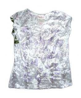 Dámské tričko bílé s fialovým potiskem d8f961767a
