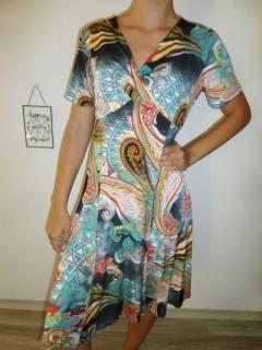 Dámské letní šaty vzorované oranž 70d30fe7af