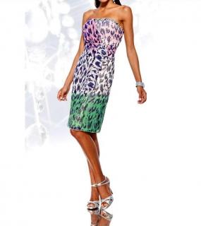 Letní dámské šifónové šaty bez ramínek 769ef854c6