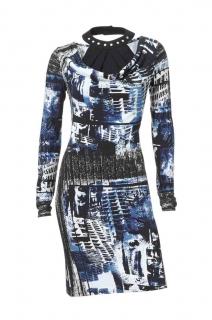 Modro černé tištěné letní šaty 7e4c487c24
