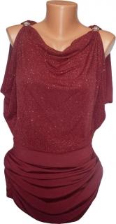 Plesové šaty - červené vínové 04e192fc5c