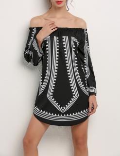 Dámské letní šaty tunika s dlouhým rukávem c5d9cc1046