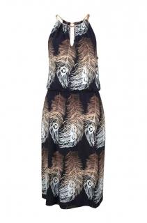 dea3303502e6 Dámské šaty designerské černé s potiskem