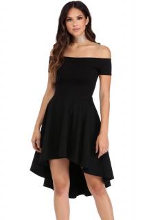 3ec7441fb9f 001 Společenské šaty černé s kolovou sukní