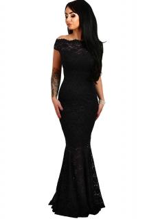 001Společenské šaty krajkové černé dlouhé abfd81dab7