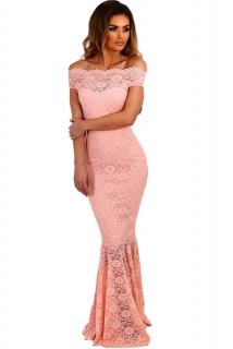 001 Společenské šaty krajkové růžové dlouhé 3e7912a077