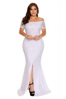 97fb96b9b Dámské společenské šaty + velikost krajkové bílé