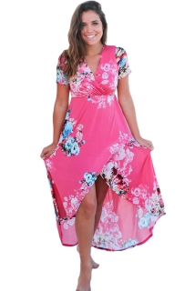 Letní šaty květované růžové 4baeeed18f