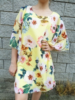 Luxusní OVERSIZE šaty i pro plnoštíhlé žluté 59a920d963