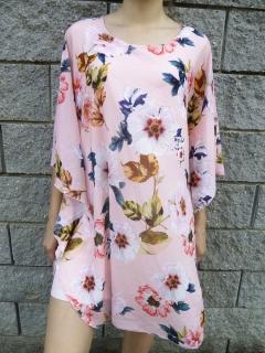 Luxusní OVERSIZE šaty i pro plnoštíhlé růžové bbf9cda1b9