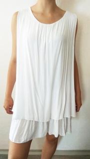 Letní šaty s kanýry bílé i pro plnoštíhlé 8c7bdb0b9d7