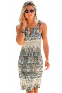 5568189c72c5 Dámské šaty letní etno šedohnědé