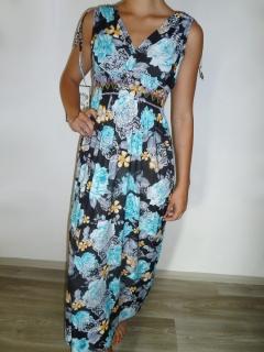 69b216dd53d0 Dámské letní šaty květované modré