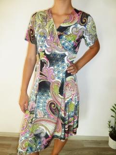 Dámské letní šaty vzorované pink 961feca4bf