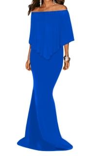 Večerní dlouhé šaty královsky modré 485098b305