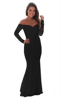 Společenské večerní šaty krajkové černé 483f71db05