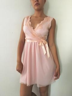 Dámské - dívčí šaty krajkové světle růžové 6c830b6657